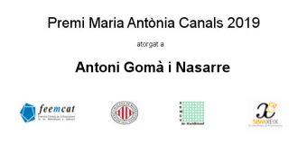 Premi Maria Antònia Canals 2019
