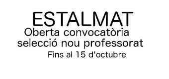 selecció professorat ESTALMAT